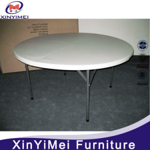 5FT Cheap Modern Plastic Banquet Folding Round Dining Table pictures & photos