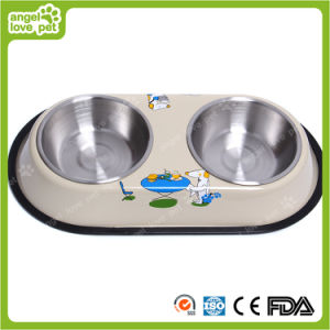Pet Staninless Steel Double Feeding Bowl pictures & photos