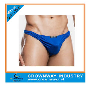 Custom Blue Mens Sexy Thong Underwears pictures & photos