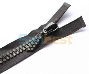 Shining Diamond Resin Diamond Zippers pictures & photos