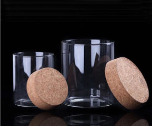 Wholesale Borosilicate Glass Jar with Cork Lid pictures & photos
