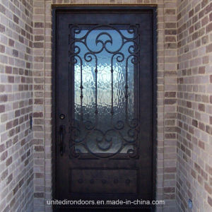 Square Top Single Entry Iron Doors Made in China (UID-S008) pictures & photos
