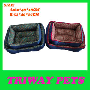 High Quaulity Denim & Printed Fabric Pet Bed (WY161029A/B) pictures & photos