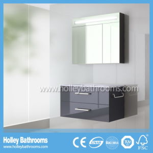 Hot LED Light Touch Switch Modern Wood Bathroom Cabinets (B920P) pictures & photos