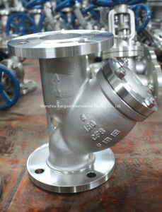 Stainless Steel CF8 CF8m Wcb Flange Y-Strainer pictures & photos