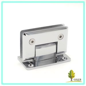 Shower Door Square Bevel Edge 90 Degree Hinge / Brass Hinge
