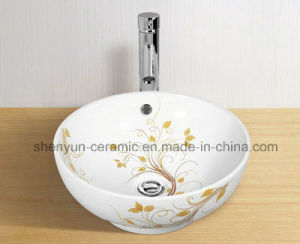 Ceramic Bathroom Basin Color Sink Bowl Shape (MG-0039) pictures & photos