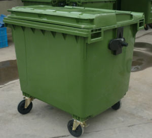 1100L Outdoor Plastic Garbage Bin with Pedal (FLS-1100L/HDPE/EN840) pictures & photos