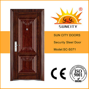 Entry Door Single Doors Steel House Doors (SC-S071) pictures & photos