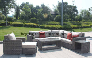 Luxury Round Wicker Sofa with Storage Coffee Table Set 0158 5mm Round Rattan pictures & photos