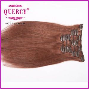Top Grade 100g 20inch Virgin Indian Hair Clip in Layer Hair Extension pictures & photos