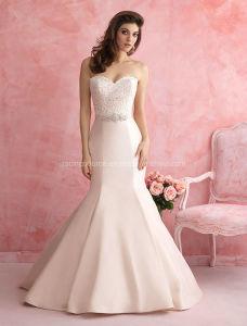 Luxurious Taffeta Sweetheart Bridal Gown Wedding Dress pictures & photos