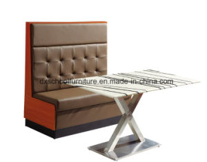 Solid Wood Leather Sofa for Bars, coffee Shop, Restaurant pictures & photos