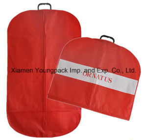 Custom Non-Woven Garment Cover Bag with Plastic Handle pictures & photos