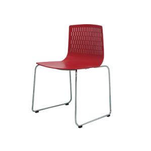 Simple Dining Fixed Bar Chair with Stainless Steel Frame (FS-704B red) pictures & photos