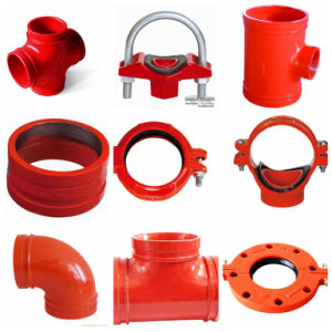 FM UL Approved Ductile Iron Red 90 Grooved Elbow pictures & photos