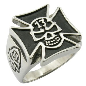 EU Style Skull Cross Punk Rock Ring Cool Men Jewelry pictures & photos