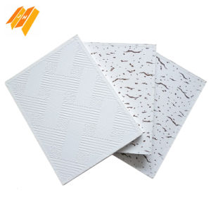 Alunimum Foil Backside PVC Gypsum Ceiling Tile pictures & photos