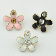 Various Style Small Rhinestone Button China Metal Garment Button Factory pictures & photos