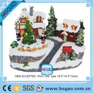 Resin Figurine Christmas Big House and Christmas Trees pictures & photos
