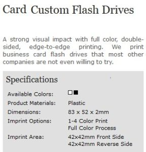 Custom Business Click Card Full Color Logo USB Flash Drive pictures & photos