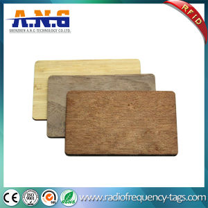 Conference Recycled Custom Printed Cards Wood Key RFID Business Card for Identification pictures & photos
