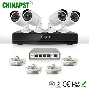 2017 Hottest 720p Network Security Outdoor 4CH Bullet IP Camera Kit (PST-IPK04C) pictures & photos