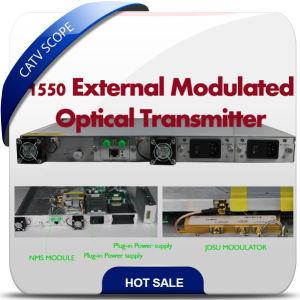 1550 Fiber Optic Transmitter/Externally Modulated Jdsu Modulator Transmitter pictures & photos