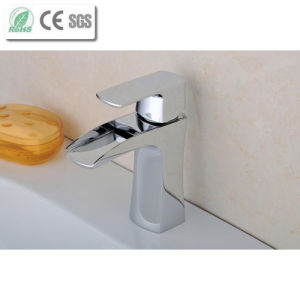High Qaulity Waterfall Brass Basin Water Faucet (Q210D) pictures & photos