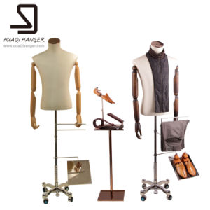 Half Body Male Mannequins for Display, Wooden Arms Mannequins pictures & photos