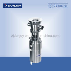 Dn25 Ss 304 Pneumatic Globe Valve with Cleaning Ball Clamp Connection pictures & photos