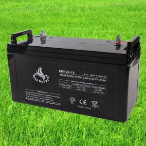 12V 120ah Mf Rechargeable VRLA AGM Lead Acid Solar Battery pictures & photos