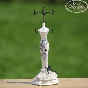 Decorative Elegant Jewelry Holder Figurines with Metal Top