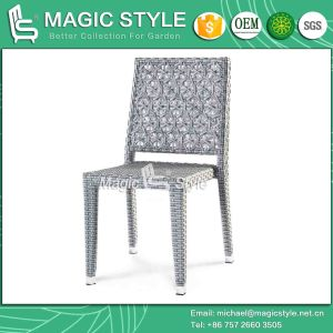 Stackable Chair Dining Chair Outdoor Furniture Patio Chair Rattan Chair Wicker Armless Chair Hotel Project Coffee Chair (MAGIC STYLE) pictures & photos