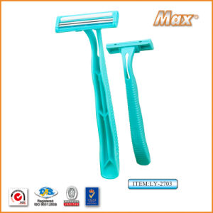 Twin Stainless Steel Blade Disposable Razor Fro Man (LY-2703) pictures & photos