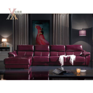 Leather Sofa with Chaise (868)