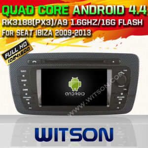 Witson Android 4.4 Car DVD for Seat Ibiza 2013 with Chipset 1080P 8g ROM WiFi 3G Internet DVR Support (W2-A6524) pictures & photos