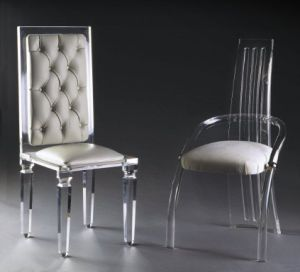Guangzhou Top Quality PU Dining Chair Acrylic Chair