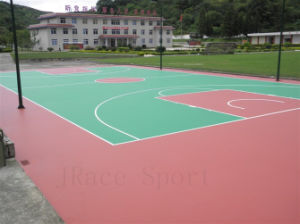 Self-Leveling Spu Buffer Coat Tennis Surface Flooring pictures & photos