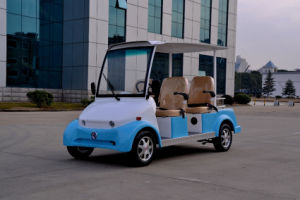 Blue Fasion Electric Sightseeing/Crusier/Utility Car/Cart with 4 Seater, High Quality pictures & photos
