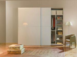 Fishional Wooden Bedroom Furniture Sliding 2 Door Wardrobe with Mirror pictures & photos
