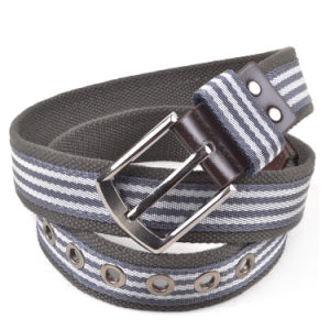 2016 New Popular Striped Cotton Polyester Fabric Belt for Men pictures & photos