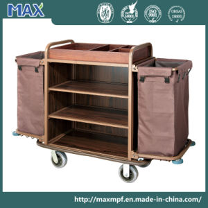 Heavy Duty Metal Two Nylon Bag Housekeeping Trolley pictures & photos