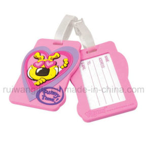 Round Cartoon PVC Luggage Tag for Ad (LT012) pictures & photos
