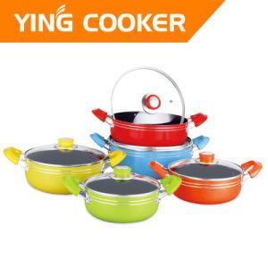 6PCS Aluminum Non-Stick Cookware Sets Sauce Pot Sets (YS-006B)