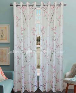 Printed Faux Linen Grommet Panel -The Plum Blossom (HR14WT105) pictures & photos
