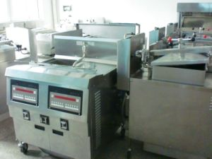 Double Tank Electric Industrial Chicken Chips Fryer Machine pictures & photos