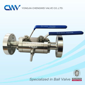Double Block & Bleed Ball Valve with Rtj End