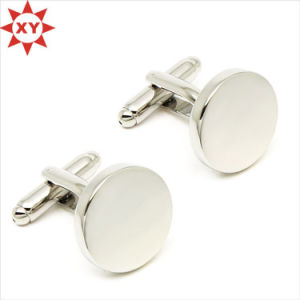 Round Shape Blank Cufflinks for Engraving pictures & photos