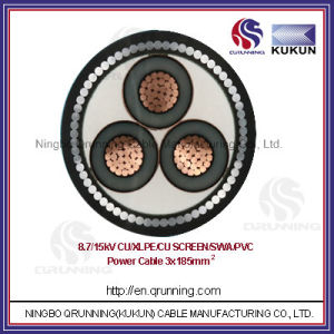 8.7/15kv Cu/XLPE/Swa/PVC (or PE) Power Cable